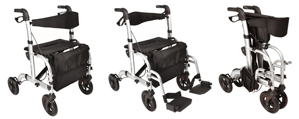 This 2 in 1 Rollator Wheelchair is Your Perfect Travel Companion