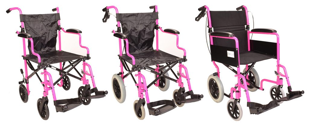 Our Best-Selling Travel Wheelchairs in Striking Metallic Pink