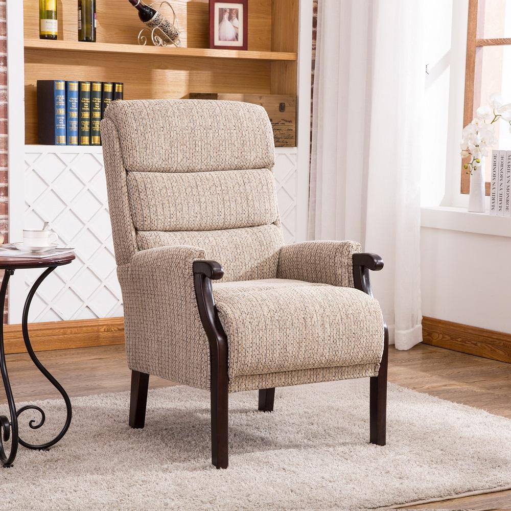 Abbey Fireside Chair Latte fabric