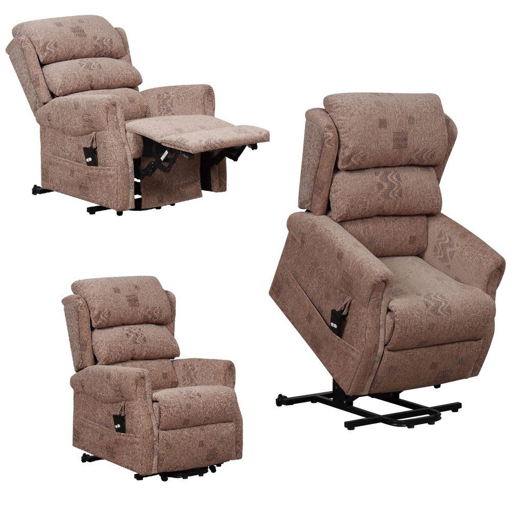 Axbridge single motor riser recliner chair