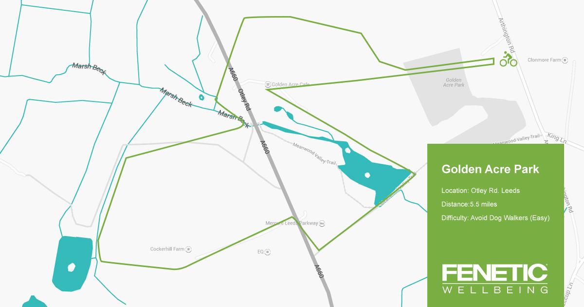 Golden Acre Park Cycle Route