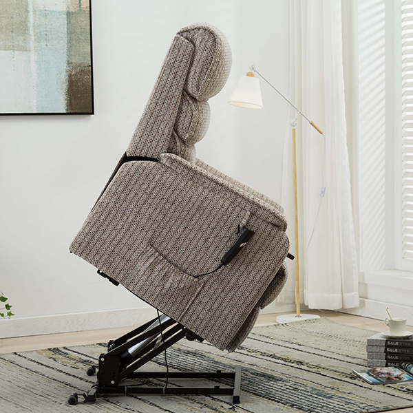 fully extended wool recliner