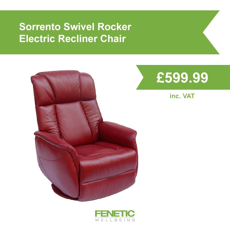 Sorrento swivel rocker electric recliner chair