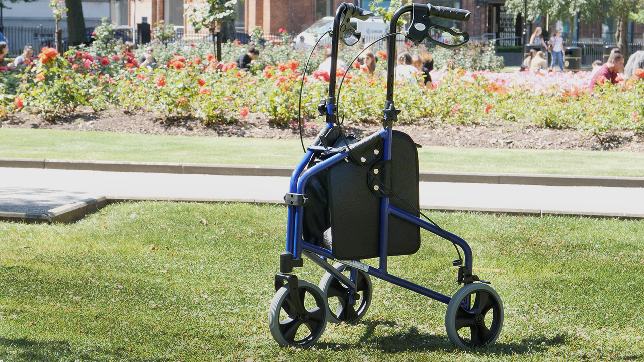 Tri-walker on grass